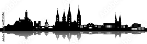 Foto auf AluDibond Konigtum Bamberg Skyline