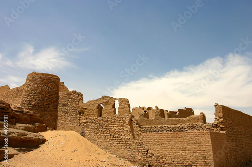 Old fortress close to Aswan Canvas Print