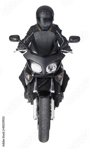 Poster Motocyclette bike and biker