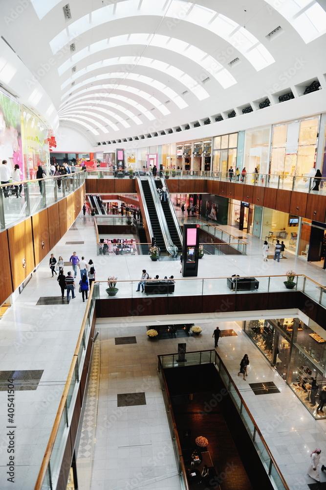 Fototapeta Interior of a shopping mall
