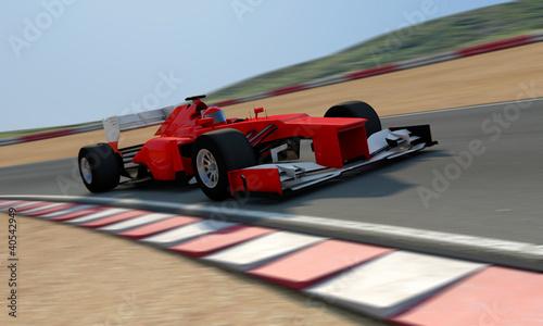 czerwony-racecar-na-torze