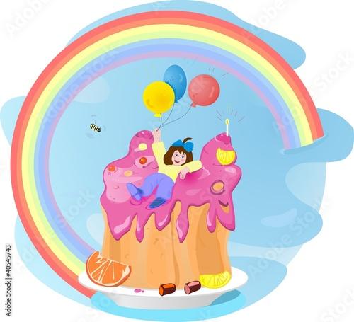 In de dag Regenboog girl