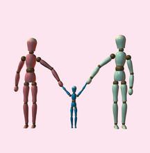 Robot Family Walking