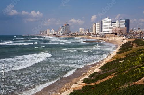 Obraz na płótnie Tel Aviv, Israel, Meer