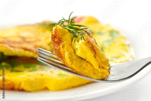 Deurstickers Gebakken Eieren scrambled eggs with chives