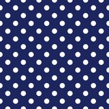 Vector seamless pattern with polka dots on navy background - 40566993