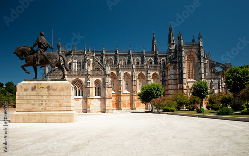 Nice view on the famous cathedral of Batalha, Portugal Wallpaper Mural