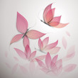 Butterfly like flower / Surreal floral background