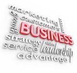 Business Concepts Principles 3D Words Background