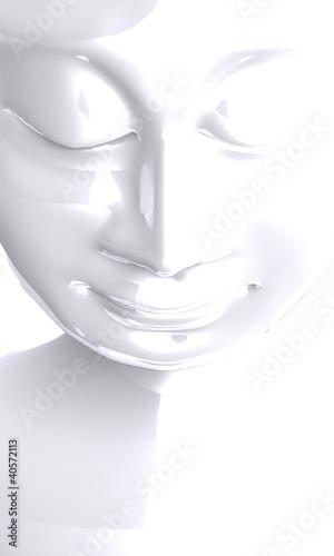 Akustikstoff - White Buddha Contrast