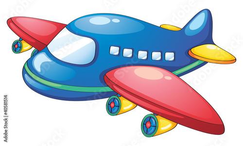 Fotobehang Vliegtuigen, ballon Object illustration