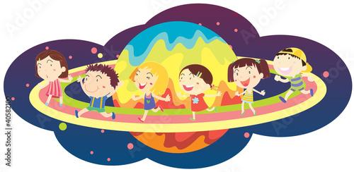 In de dag Regenboog Cartoon illustration