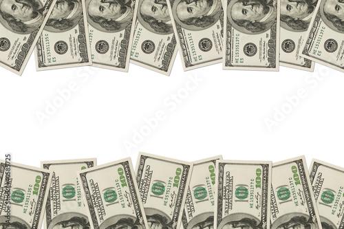 Fotografie, Obraz  Money Border of hundred dollar bills