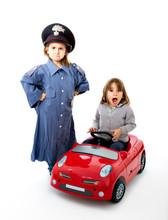 Italian Carabinieri Stop A Car...