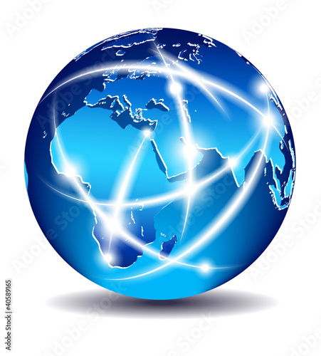Fotografie, Tablou  Communication World, Global Commerce - Europe, Middle East, Afri