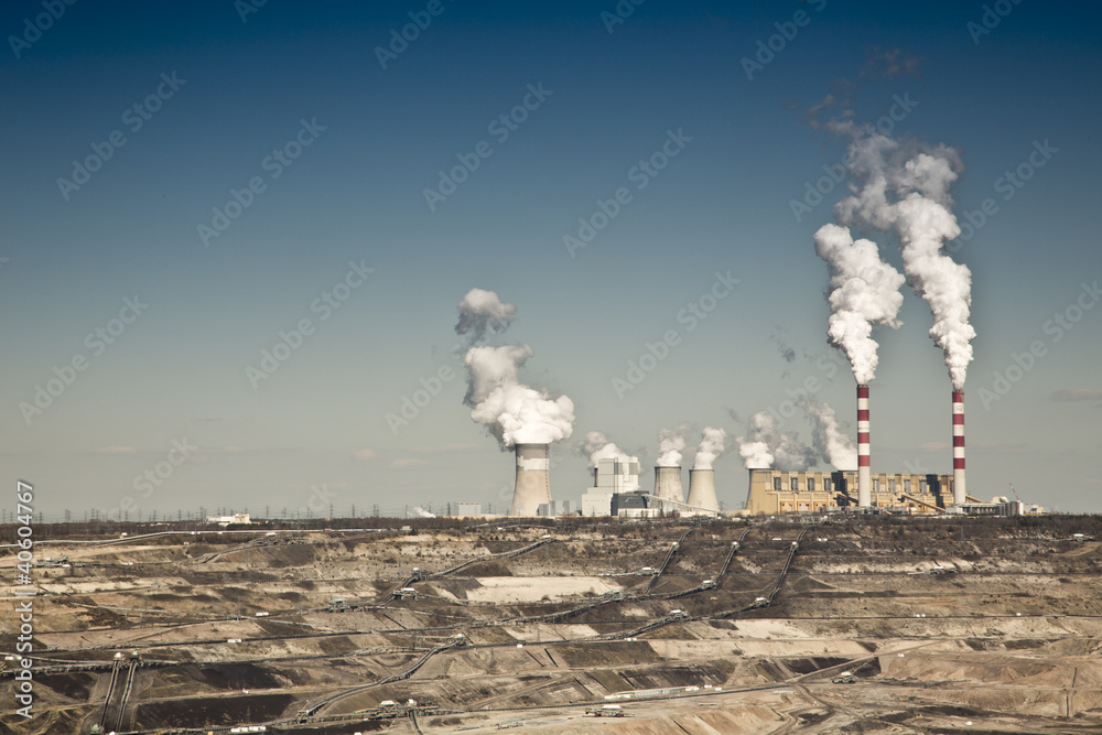 Fototapeta coal powerplant view