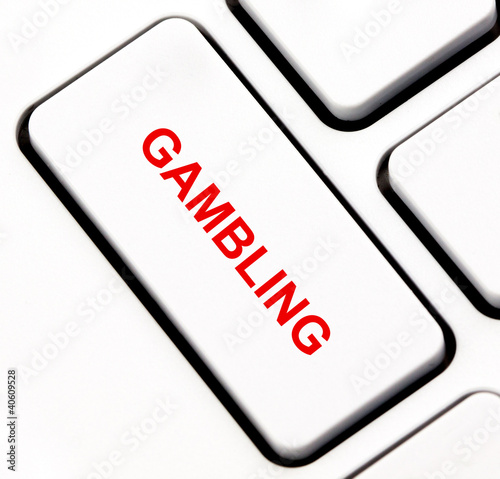Gambling button on keyboard плакат
