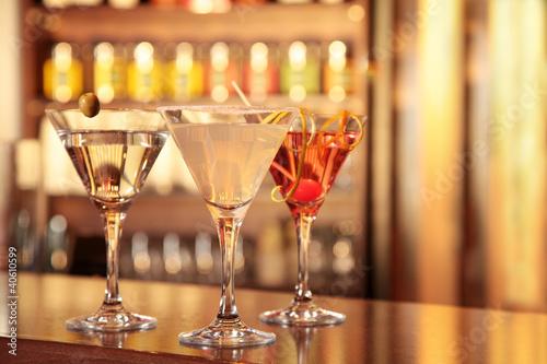 Fotografie, Obraz  Cocktails Martini Margarita Cosmopolitan