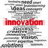 Grafika z napisem innowacja