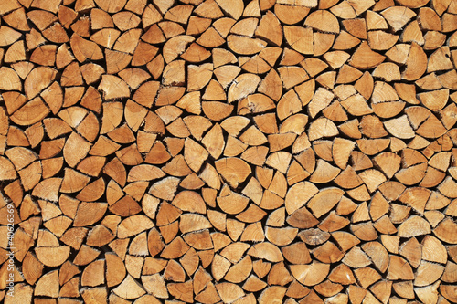 Foto op Aluminium Brandhout textuur Brennholz-Textur