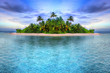 canvas print picture - Tropical island of Maldives