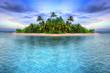 Leinwandbild Motiv Tropical island of Maldives