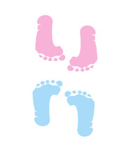 Footprint Of Girl And Boy