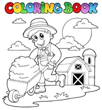 Coloring Book Farm Theme 3