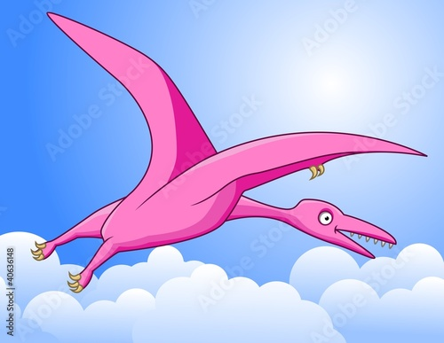 Photo sur Aluminium Dinosaurs Pterosaurus cartoon