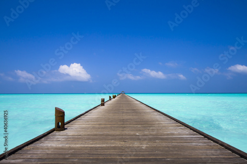 jetty at the beach Canvas Print