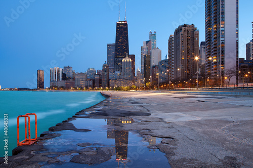 Poster Chicago Chicago skyline.