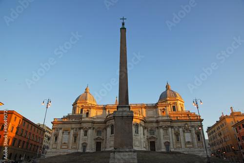 Papiers peints Les vieux bâtiments abandonnés Roman obelisks Esquiline and Santa Maria Maggiore church