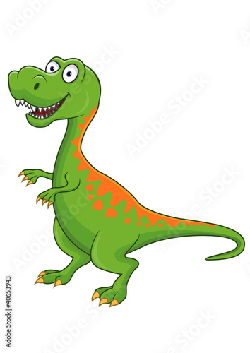 Spoed Foto op Canvas Dinosaurs Tyrannosaurus cartoon