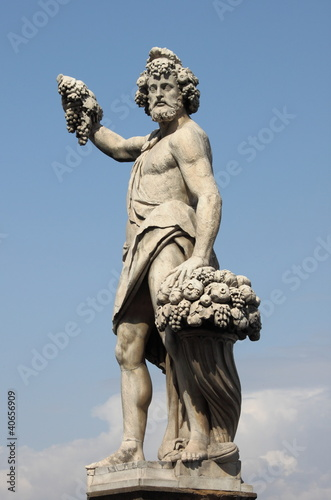 Statue of Bacchus Canvas Print