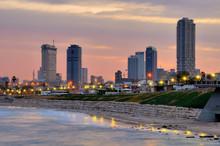 Tel Aviv Skyline On The Medite...