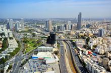 Tel Aviv, Israel Skyline Looking Towards Ramat Gan