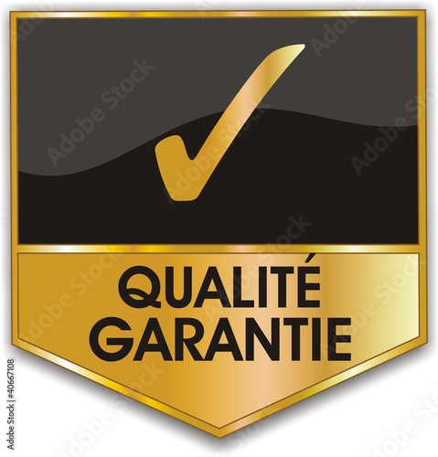 Fotografía  bouton qualité garantie
