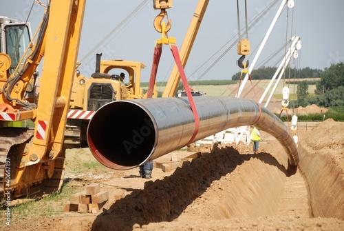 Fotografiet  Pose d'un pipeline