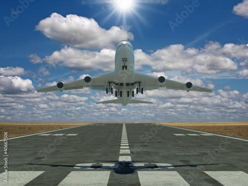 Naklejki na meble   samolot-nad-pasem-startowym