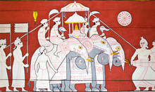 Art Painting At The Entrance To The Temple Of The Sacred Tooth O