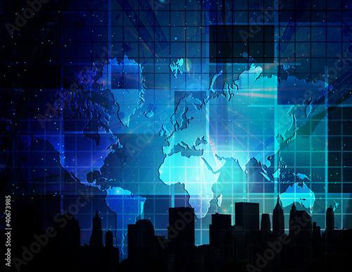 Fototapeta mapa techniczna-mapa-swiata