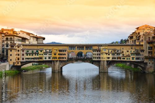 Photographie  Ponte Vecchio bridge in Florence, Italy
