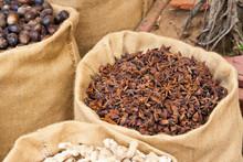 Sternanis In Kerala, Indien, Star Anise Fruits