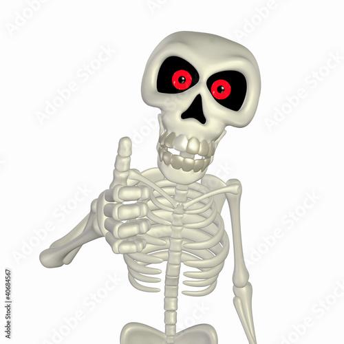 Garden Poster Sweet Monsters Thumbs Up Skeleton
