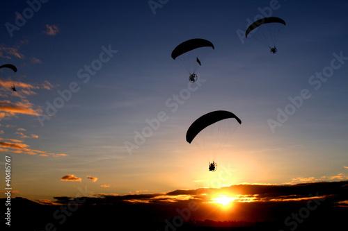 Morning Paragliding