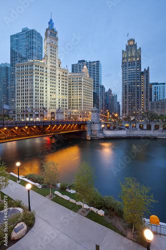Poster Chicago Chicago riverside.