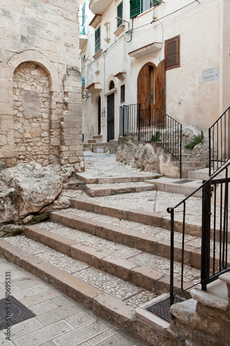 Fototapeta uliczka uliczka-ze-schodami