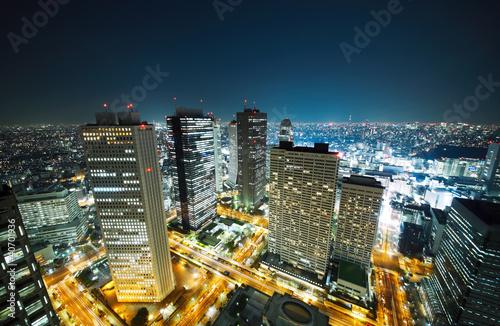 Spoed Foto op Canvas Tokio 東京の夜景
