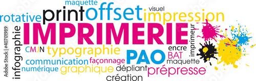 Fotografía  nuage de mots imprimerie