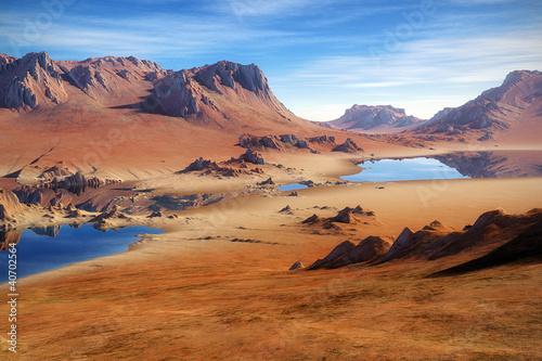 Spoed Foto op Canvas Zandwoestijn Desert